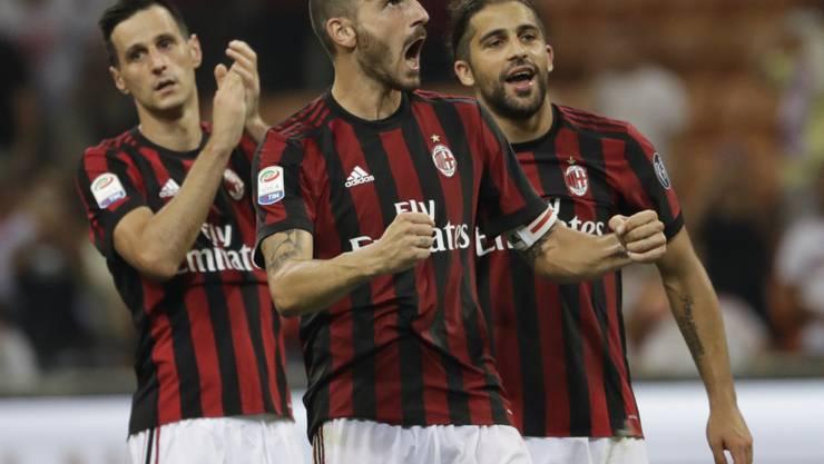 Der Schweizer Nationalspieler Ricardo Rodriguez (ganz rechts) stiess in diesem Sommer zur AC Milan