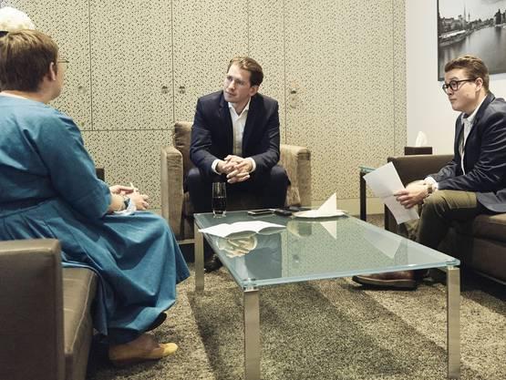 Sebastian Kurz beim Interview mit den CH-Media-Redaktoren.