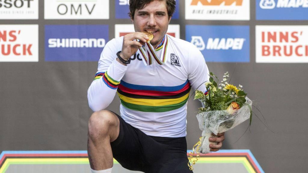 Marc Hirschi gewann im September als erster Schweizer Radsportler überhaupt WM-Gold im U23-Strassenrennen