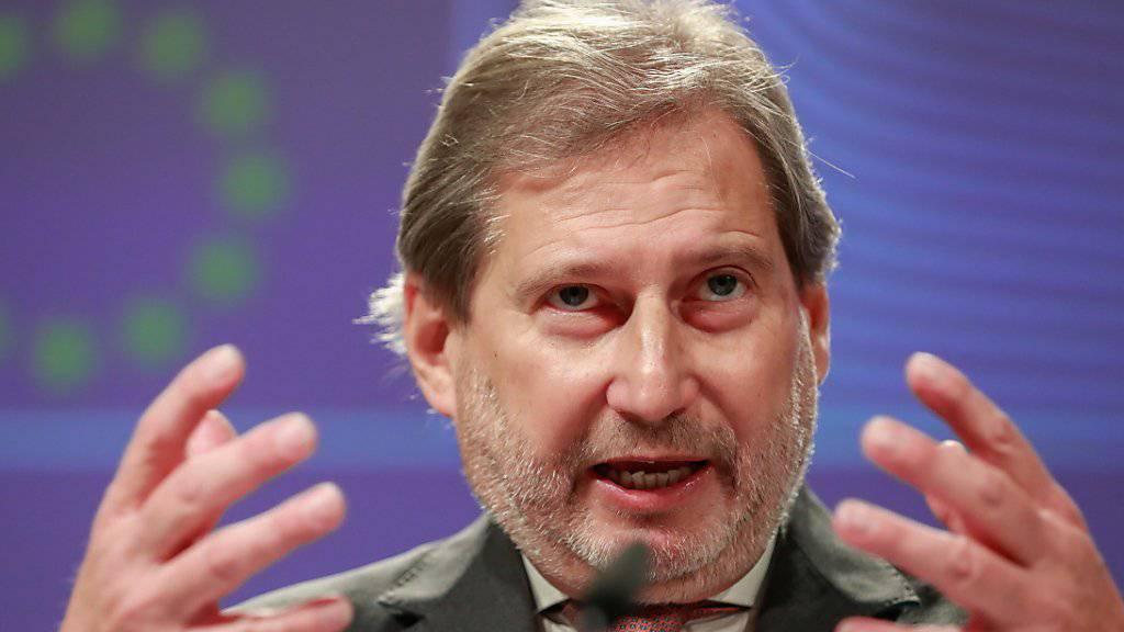 EU-Kommissar Johannes Hahn hat bereits im Dezember angekündigt, was nun schriftlich vorliegt: Die EU will Marktzugangsabkommen mit der Schweiz nicht aktualisieren, bis ein «befriedigendes Ergebnis für das Rahmenabkommen» vorliegt. Dies geht aus einem internen Schreiben der EU-Kommission hervor.
