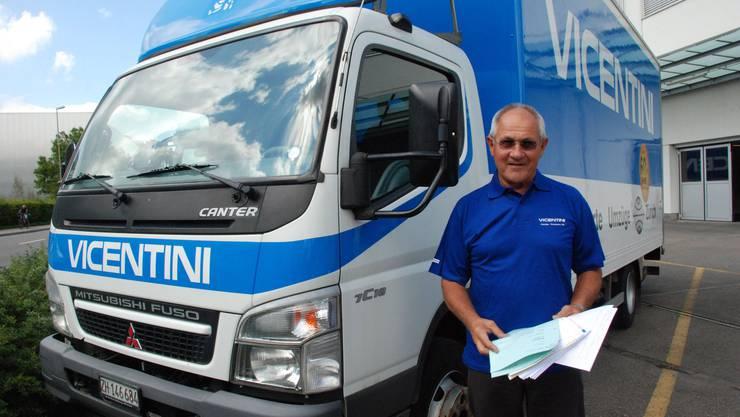 Albert Vicentini vom Transportunternehmen Vicentini AG