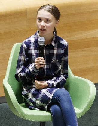 Klima-Aktivistin Greta Thunberg vor den Vereinten Nationen in New York.