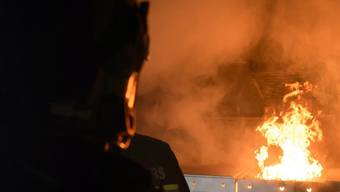 Die Feuerwehr konnte den Brand in der Waschküche nach kurzer Zeit löschen.