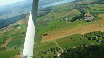 Fast allein in der Luft: Die Propellermaschinen vom Flugplatz Buttwil. (fr/archiv)