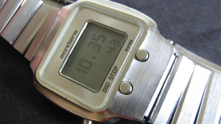 Der Digi-Stop-Chronograph von Mondaine von 1976.