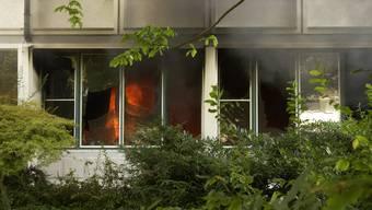 Brand in der Gewerblich-industriellen Berufsschule Solothurn im August 2003