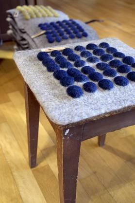 Sitzunterlage aus Filz, mit neckischen Noppen