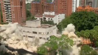 Die Behörden haben das Wohnhaus von Drogenboss Escobar gesprengt.