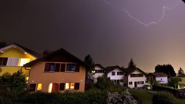 Gewitter Ende Mai in Igis im Churer Rheintal (Archiv)