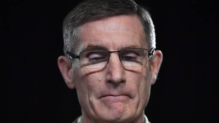 Angus Campbell, Chef der australischen Verteidigungsstreitkräfte, stellt den Untersuchungsbericht über den Afghanistan-Einsatz vor. Foto: Mick Tsikas/AAP Pool/AP/dpa