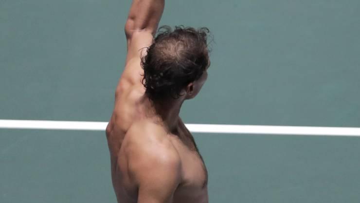 Starker Auftritt beim Davis-Cup-Final in Madrid: Rafael Nadal