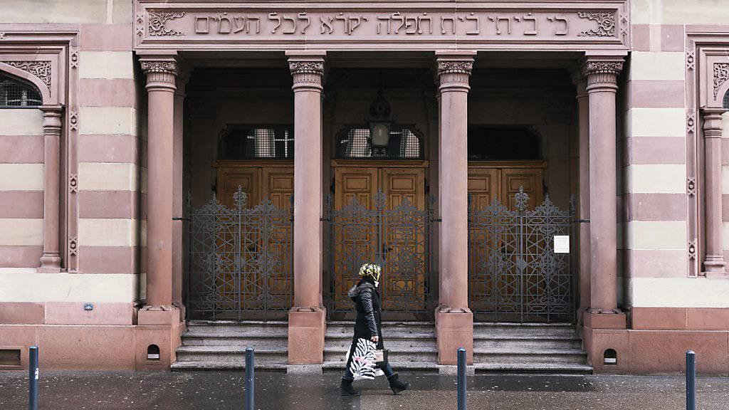 Mit Überwachungskameras gesichert: die Synagoge der Israelitischen Cultusgemeinde Zürich. (Archivbild)