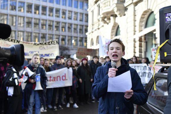 Der Klimaaktivist Jonas Kampus war bei den Streiks vorne mit dabei.