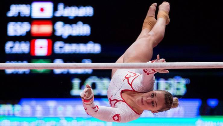 Wer hätte das gedacht? Giulia Steingruber gehört nach ihrer Qualifikations-Leistung im Mehrkampffinal zu den Medaillenkandidatinnen.