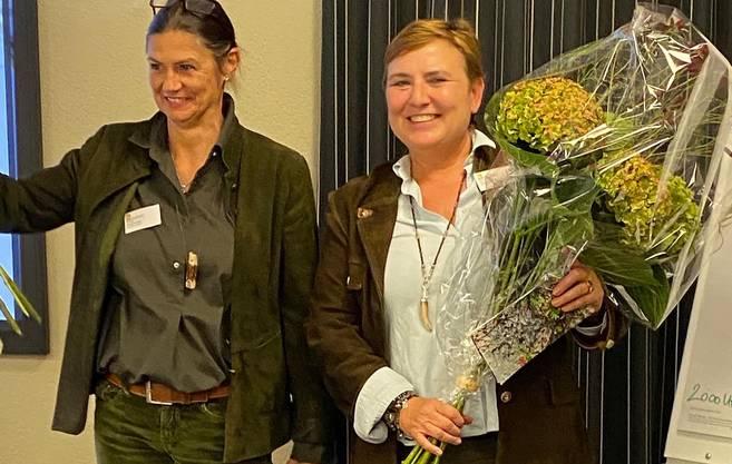 Die Jägerinnen Brigitte Born und Daniela Peter