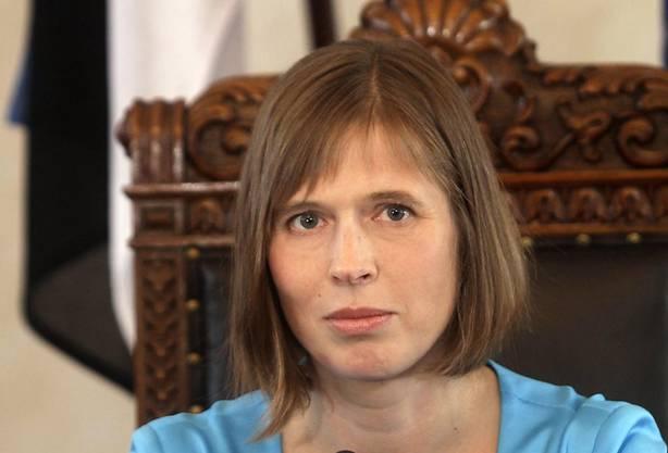 Kersti Kaljulaid: Seit dem 10. Oktober 2016 ist sie Staatspräsidentin von Estland.