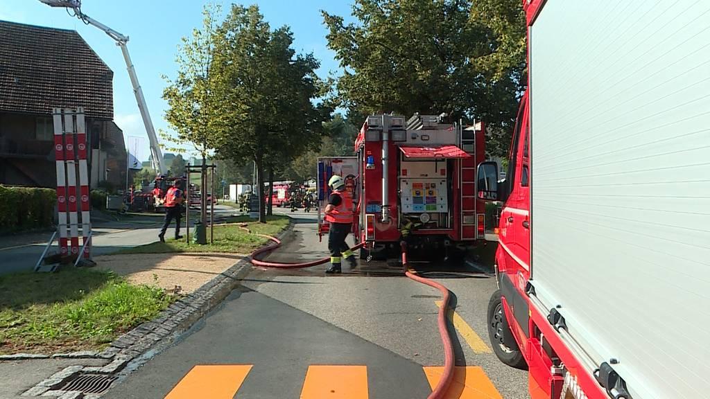 Brand in Lohn-Ammannsegg löst Grosseinsatz aus