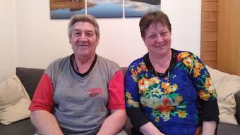 Bruno und Anita Fischer in ihrer Quarantäne in Ehrendingen.