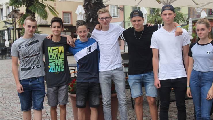 Die Retter von Murg: Marvin Knab, Felix Kaiser, Tobias Albiez, Bennet Hannemann, Leon Eckert, Rico Fischer, Jasmin Mosch (v.l.).