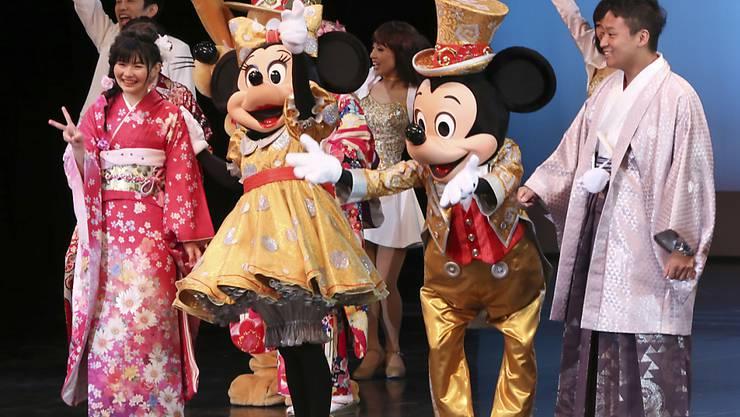 Spass im Disney-Land zu Tokio: Die Vergnügungsparks des US-Unterhaltungsriesen sind nach wie vor eine zuverlässige Einnahmequelle. (Archivbild)