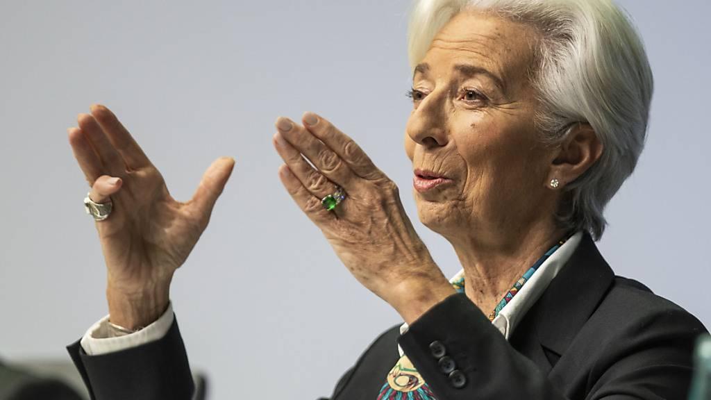 EZB-Chefin Christine Lagarde bleibt auf Kurs. (Archivbild)
