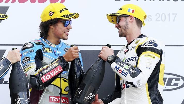 Tom Lüthi (rechts) und Franco Morbidelli: Heute Konkurrenten, schon bald Teamkollegen?