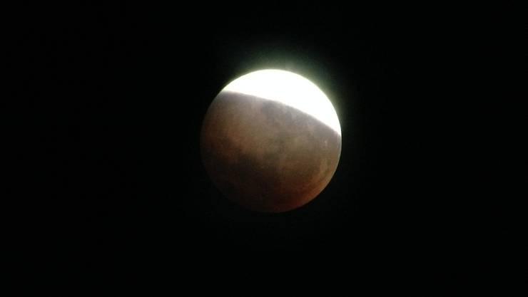 Der «Blutmond» aufgenommen von der Sternwarte Uitikon.