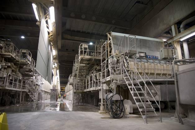 Ein Blick auf die zwei Papiermaschinen «Mona» und «Lisa»