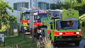 Feuerwehrübung im Kloster Fahr