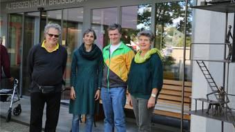 VAOF-Geschäftsführerin Andre Rotzetter und die Grünen-Politiker Ursula Kahi, Severin Lüscher und Gertrud Häseli (v.l.) sprachen über Gesundheitspolitik. (Bild: dka)