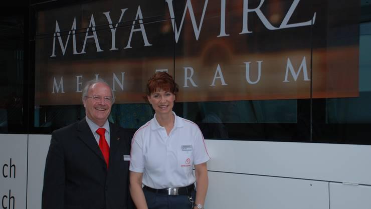 Maya Wirz und ihr Chef; der Geschäftsführer AAGL, Hansruedi Bieri
