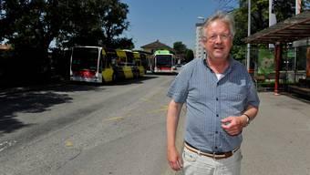 Stadtbaumeister Claude Barbey im aktuellen Planungsbrennpunkt Südbahnhof.