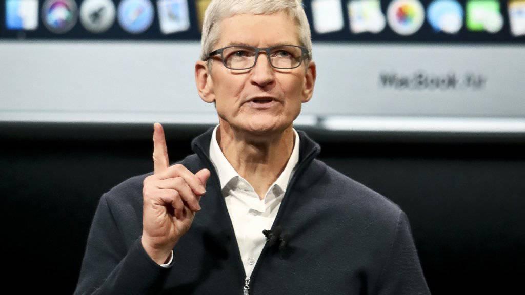 Macht sich Sorgen angesichts der Datensammlung im Internet: Apple-Chef Tim Cook. (Archivbild)