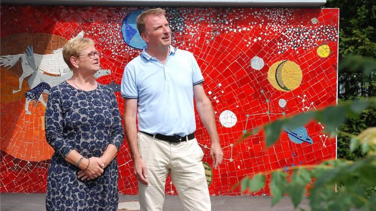 Gesamtschulleiterin Denise Widmer und Martin Meyer, Leiter Bezirksschule, blicken optimistisch in die Zukunft.Katja Schlegel