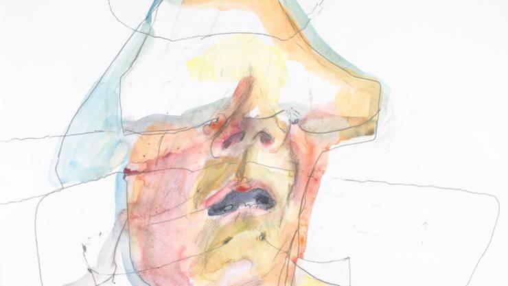 """Maria Lassnigs """"Geschichts-Schichtenlinien"""" von 1996 sind im Neubau des Basler Kunstmuseums noch bis am 26. August zu sehen."""