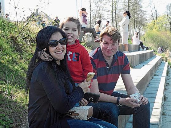 Cindy, Alexander und Sasha Populoh aus Aarau: «Unseren Ausflug an Ostern haben wir natürlich abgesagt»