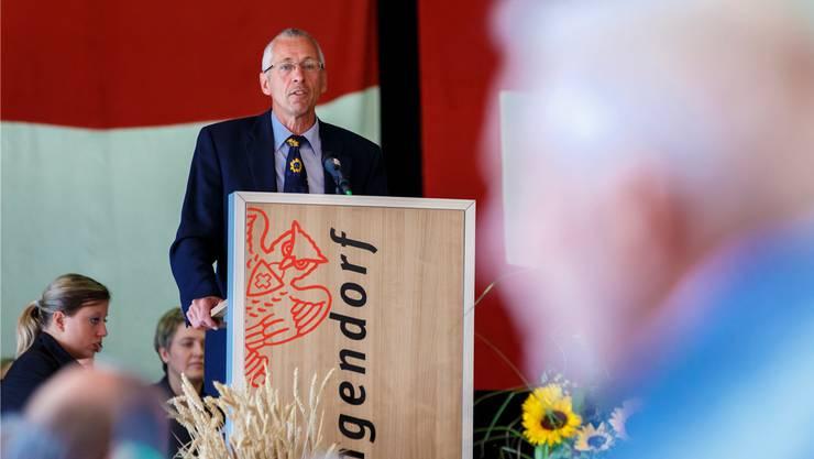 Bauernsekretär Peter Brügger sprach über die Bedeutung des Bodens.