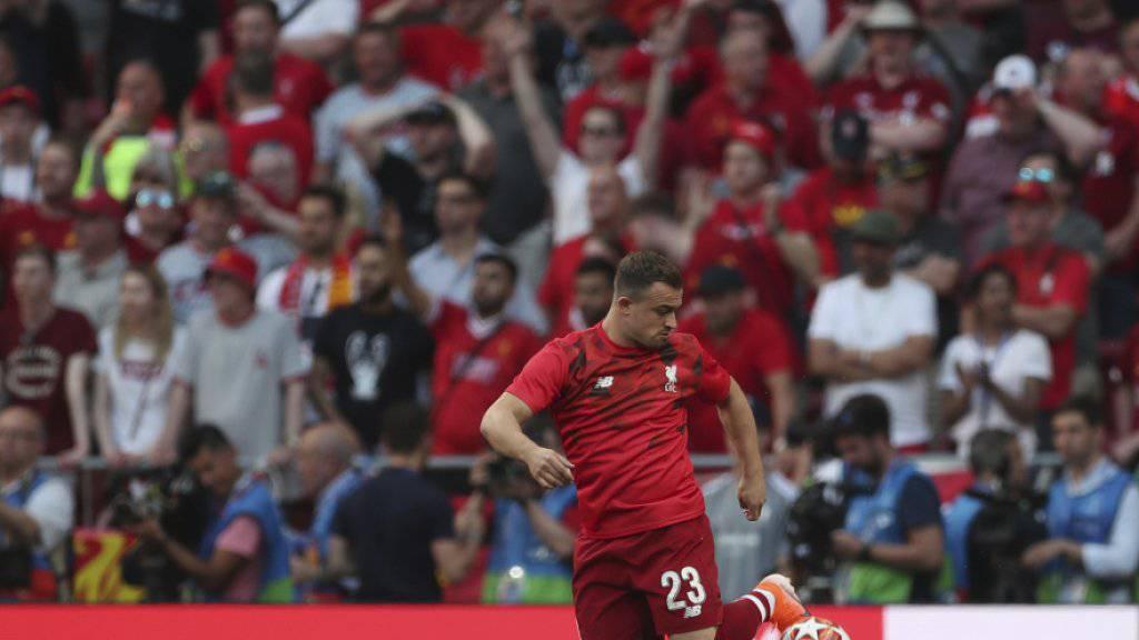 Konnte sein Können nur beim Aufwärmen zeigen: Xherdan Shaqiri kam beim Final im Metropolitano nicht zum Einsatz, gewann aber nach 2013 mit Bayern München als erster Schweizer zum zweiten Mal die Champions League
