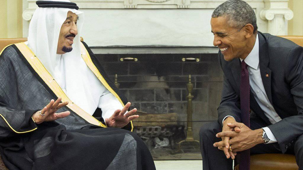 König Salman traf am Freitag im Weissen Haus mit Präsident Obama zusammen.