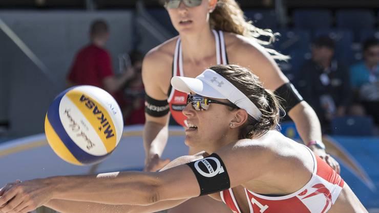 Tanja Hüberli und Nina Betschart mussten sich in Klagenfurt im Halbfinal geschlagen geben