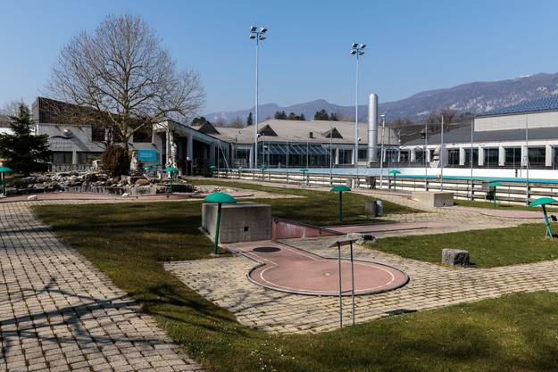 Mindestens bis zum 19. April herrscht tote Hose auf dem Areal des Sportzentrum Zuchwil.