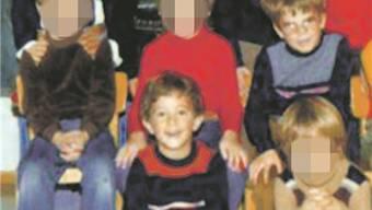 Kindergarten-Gschpänli Hermann (zweite Reihe) und Reto (erste Reihe). HO