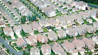 In den Suburbs der Grossstädte (hier in der Nähe von Charlotte, North Carolina) wohnt inzwischen die Hälfte aller Amerikaner.