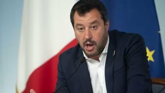 Innenminister Matteo Salvini Scharfe Worte in Richtung Brüssel. Keystone