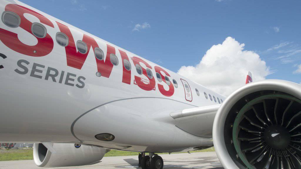 C Series -Flugzeuge für Genf: Swiss beginnt am Sonntag mit dem Ersatz der in Genf stationierten Flugzeuge. (Archivbild)