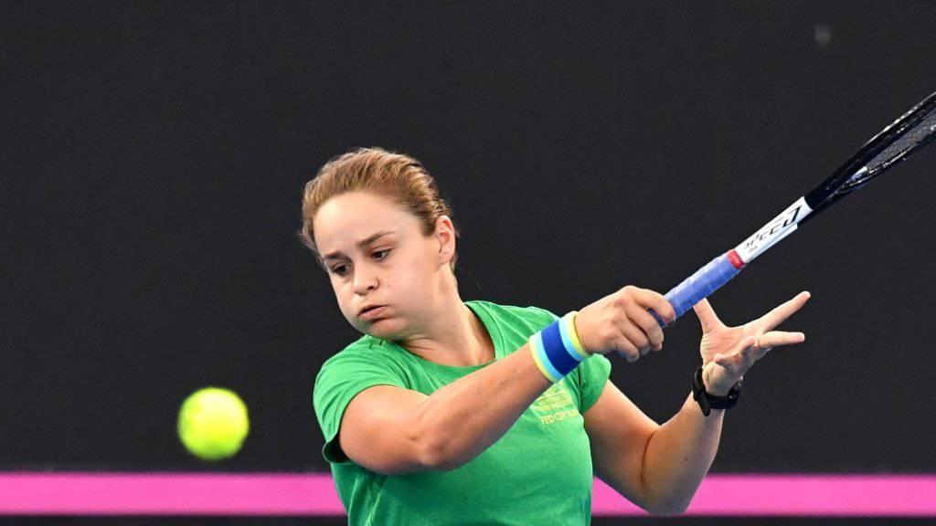 Ashleigh Barty führte Australien mit drei Siegen in den ersten Fed-Cup-Final seit 1993