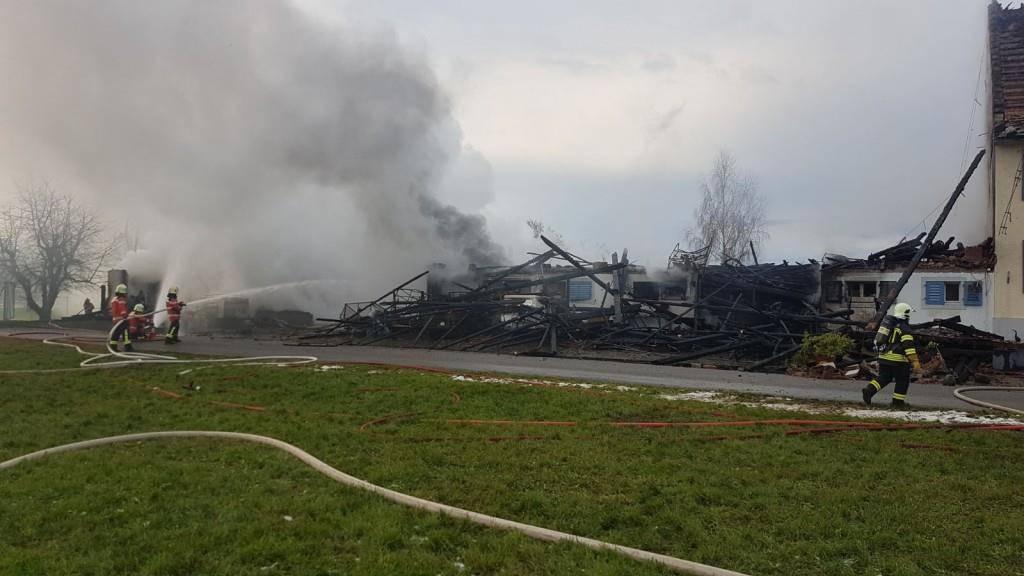 Brand in Boltshausen (© TVO)