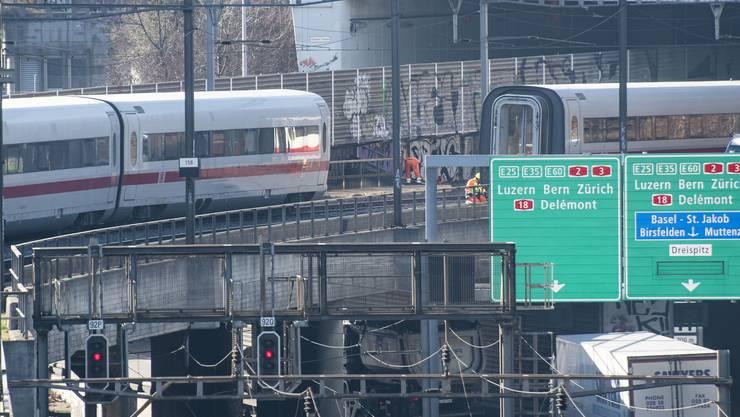 Aus noch unbekannten Gründen auf Abwege geraten war ein deutscher ICE aus Berlin, der nach Interlaken unterwegs war.