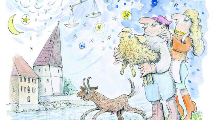 Ausschnitt aus der Illustration des Geschichtenbands von Jürg Parli.