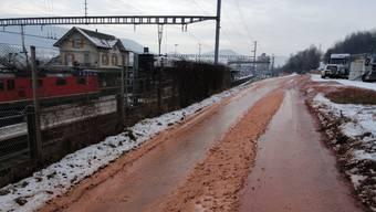 Zubringerverkehr beim Bahnhof Frick soll durch eine rückwärtige Erschliessung verbessert werden. chr